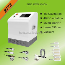Heta 1000C Portable Shock Wave Cellulite &Fat Removal RF Auto Roller Vacuum Ultrasonic Cavitation
