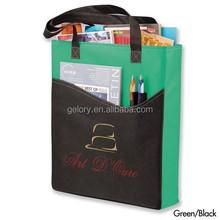 Rivers Pocket Convention Tote bag made of Non-woven,tradeshow promotion handbag