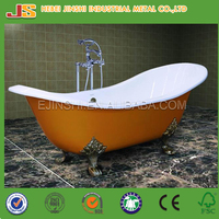 Factory hot sale Classical Free Standing Cast Iron Soaking Bathtub