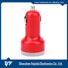 Fashional universal silicone case outside and PC + ABS inside usb dual car charger for iPad
