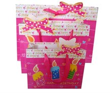 Birthday gift paper shopping bag manufacturers