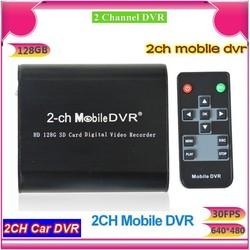 2-ch split Mini DVR Supports remote boot off