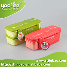 Promotional Gift Plastic Lunch Box for Kids Food Container with Cutlery