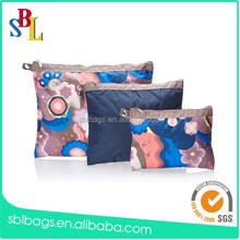 Custom Watercolor Flower Print Canvas Cosmetic Pouch Zippered Makeup Cosmetic Pouch