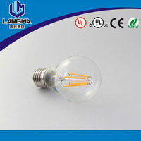 high energy efficiency Room lamp light Viewing angle 360 degree A60 e27 6w LED filament clear bulb Room lamp