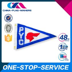 Hotsale High Quality Custom Design Mini Soccer Team Pennant Flag