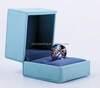 promotional luxury velvet ring box hinge