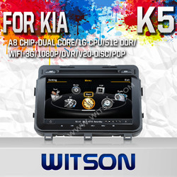 WITSON FOR KIA OPTIMA 2013 CAR STEREO WITH 1.6GHZ FREQUENCY 1080P 1G DDR RAM 8GB A8 DUAL CORE CHIPSET WIFI 3G
