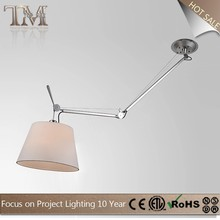 modern ceiling foldable stainless fabric shade desk lamp