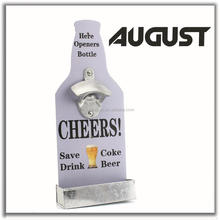 August Promotional Manual Wall Mount Bottle Opener Parts