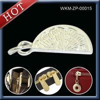 Customized metal semi lock zipper pull