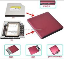 USB 3.0 SATA external Caddy Enclosure case for laptop CD/DVD writer burner drive