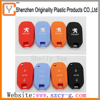 2014 new design silicone car key covers for Peugeot