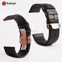 Kakapi Real leather with Crocodile Texture watchband New Strap for Apple Watch 38MM 42MM