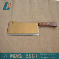 Stainless steel Kitchen chopping knife with wooden handle 8""