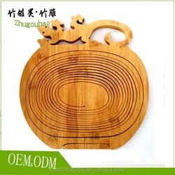 Environmental protection cabrite design bamboo fruit basket