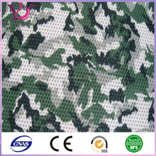 Green Camouflage Football Mesh Knit Fabric