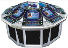 2015 hot sell 8 players electronic casino roulette machine for sale