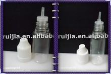 clear 10ml PET bottle with Childproof cap&Long thin tip