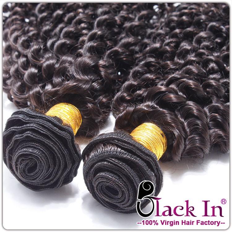 Vendedor quente cutícula completo cabelo remy brasileiro, clipe crespo crespo em extensões do cabelo, atacado feixes de cabelo brasileiro virgem