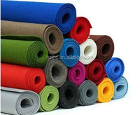 Make-to-order color needle punched polyester nonwoven 100% wool roll felt