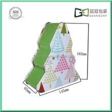 Custom Tin Christmas Decoration Tree Shape Metal box