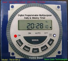 Multi Purpose Programmable Digital Timer : Frontier ; TM-619H-2 : 220 V AC