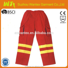 2015 newly cotton-polyester red mens work trousers safety pants