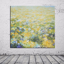 Wholesale New Design High Quality Low Price Handmade Decor Oil Painting Abstract Flower Picture