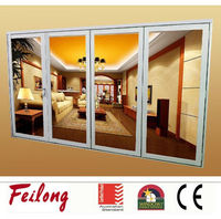 China supplier bi fold glass door with AS2047 standard in Australia & NZ