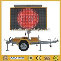 12V Solar Power Full Matrix Portable LED Display Signs, Outdoor Led Display Signs VMS-300-3