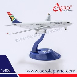 1:400 South African Airways Diecast Metal New Stylish Diecast One Piece Landing Gear Passenger Model Aircraft Airbus A330