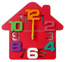 Unique square 3D wall clock for kids