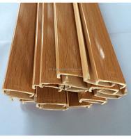 u-shaped customized pvc plastic edge banding antique wood trim