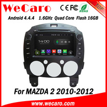 Wecaro in dash Android 4.4.4 Car dvd player radio gps navigation with multimedia system for mazda 2 car audio 2010 2011 2012