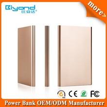 Alumium alloy shell ultra slim card power bank built-in USB flash disk