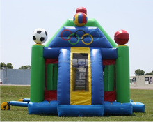 top selling funny inflatable multi-play sports zone, inflatable sports games