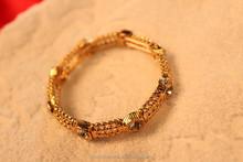 elastic bracelet ,plating gold,extravagant jewelry,anti allergy zinc alloy