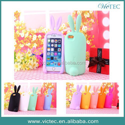 Fashion rabbit silicon newest design for iphone 6 case
