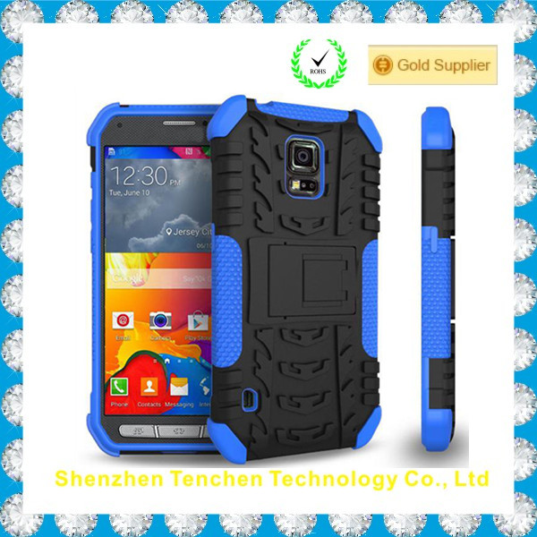 new unique 2 in 1 robot cheap mobile phone case for samsung S5