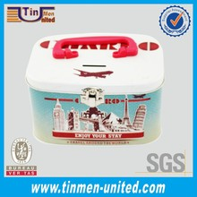 Cube Tin Lunch Box or Coin Bank