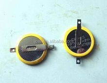 tabbed cr2025 battery for key chain, 3v battery cr2025 with solder tabs pins