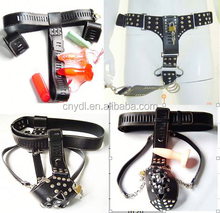 leather chastity belt, gorgeous chastity belt with dildo & butt plug