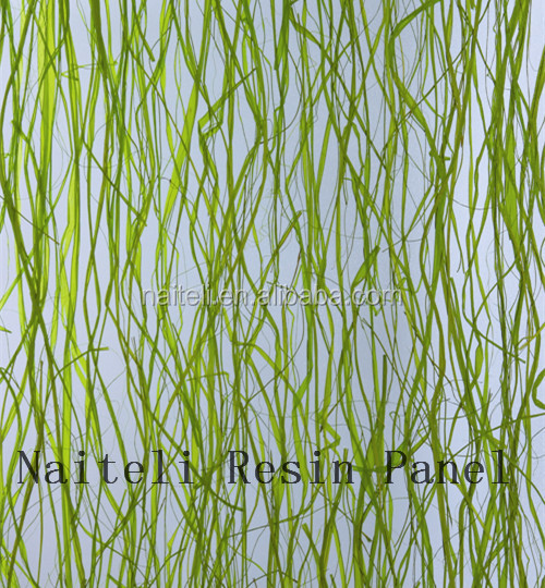 Acrylic Sea Weed Grass Price PVC Wall Panel, pvc panel for wall