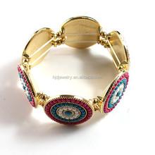 2015 Trendy gold elastic line seed bead Bracelet