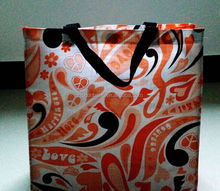 reusable fancy shopping bag/ 2011 hot sale reusable fancy shopping bag/ huaxin paper laminated reusable fancy shopping bag