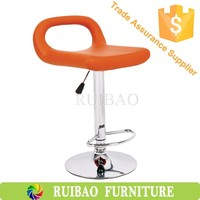 Unique Design Yellow Leather Barstools Cheap Shop PU Bar Stool
