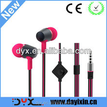 Mobile Phone Use and In-Ear Style in-ear earphone with flat cable