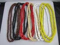 Cheap Wholesale European Market Hot Sale Hip Hop Wooden Bead Necklace Beads