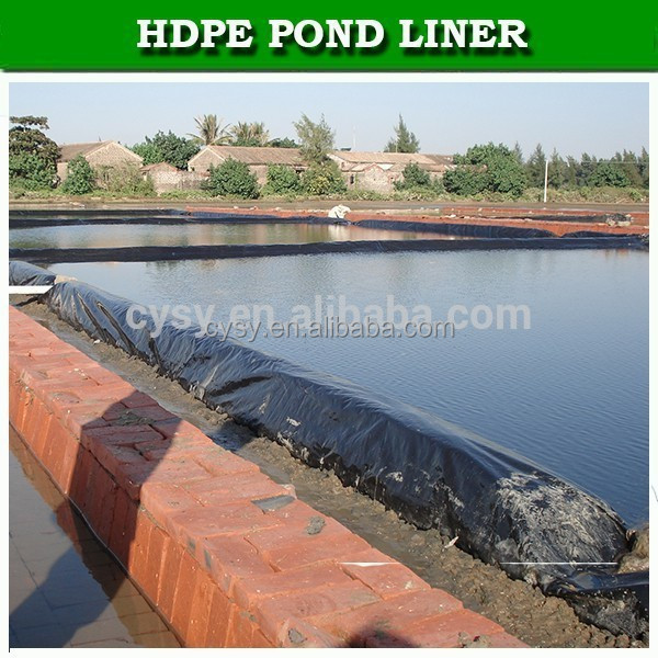 Uv Stabilized High Density Polyethylene Geomembrane Fish